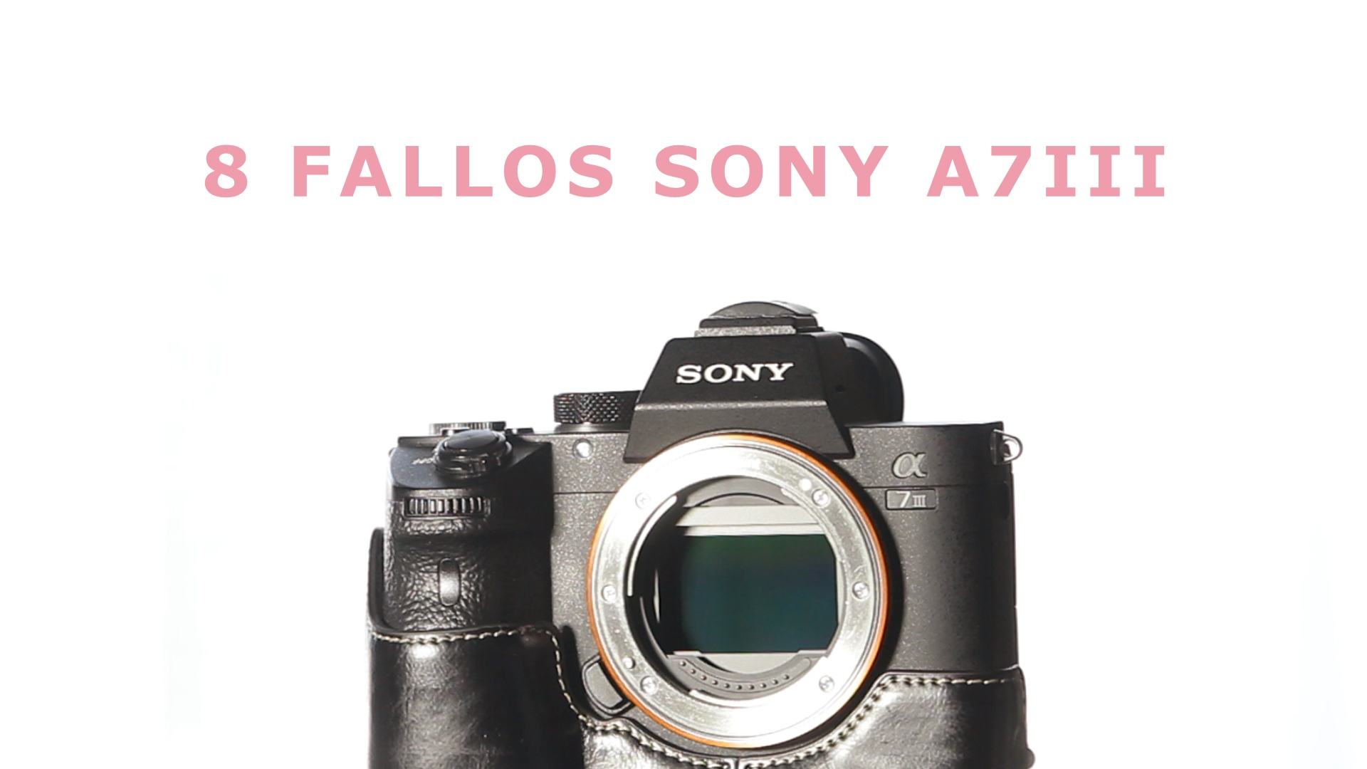 Ocho fallos Sony A7III